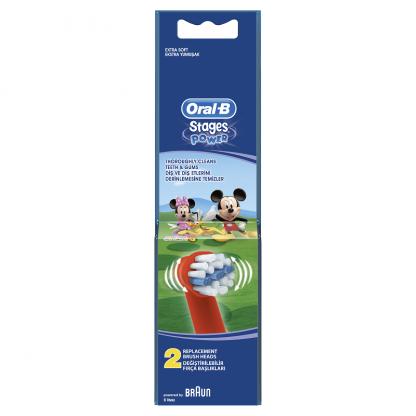 Oral-B Stages Power Disney Mickey Mouse Club House Ανταλλακτικές Κεφαλές Ηλεκτρικής Οδοντόβουρτσας 2τμχ