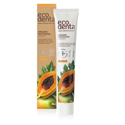 Ecodenta Cosmos Βιολογική Οδοντόκρεμα Λεύκανσης με Papaya 75ml
