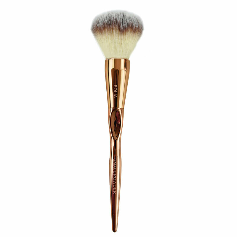 Folia Cosmetics Small Powder Brush Rose Gold