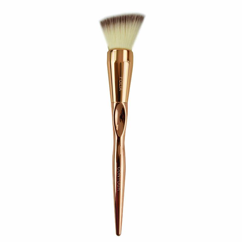 Folia Cosmetics Contour Brush Rose Gold