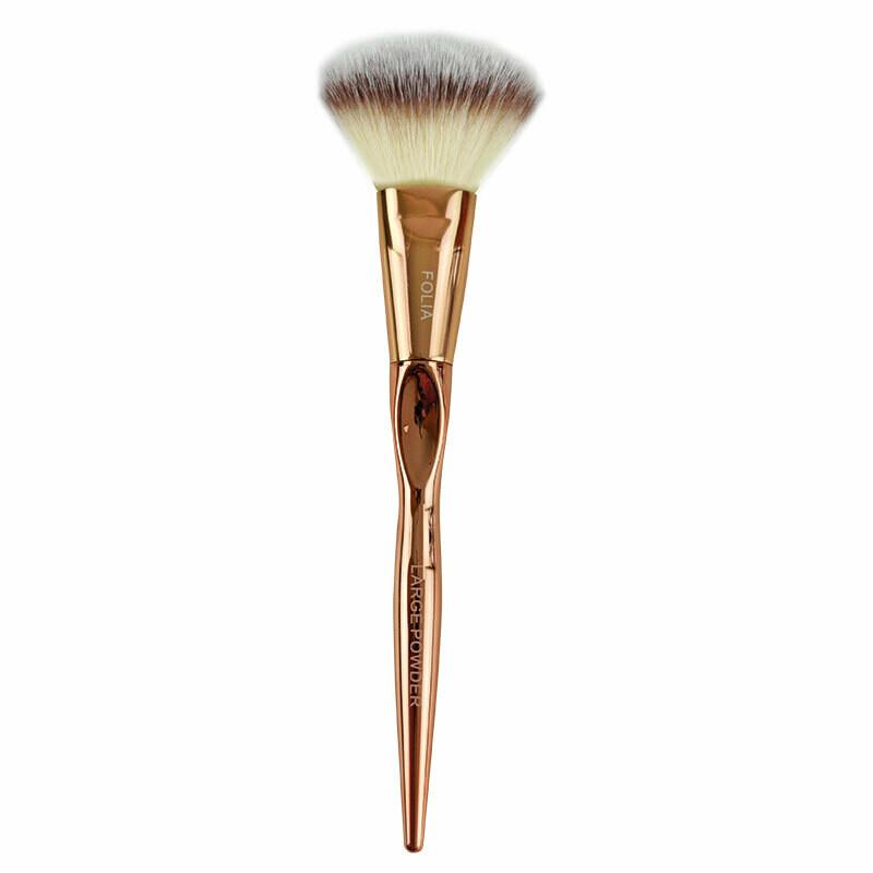 Folia Cosmetics Large Powder Brush Rose Gold