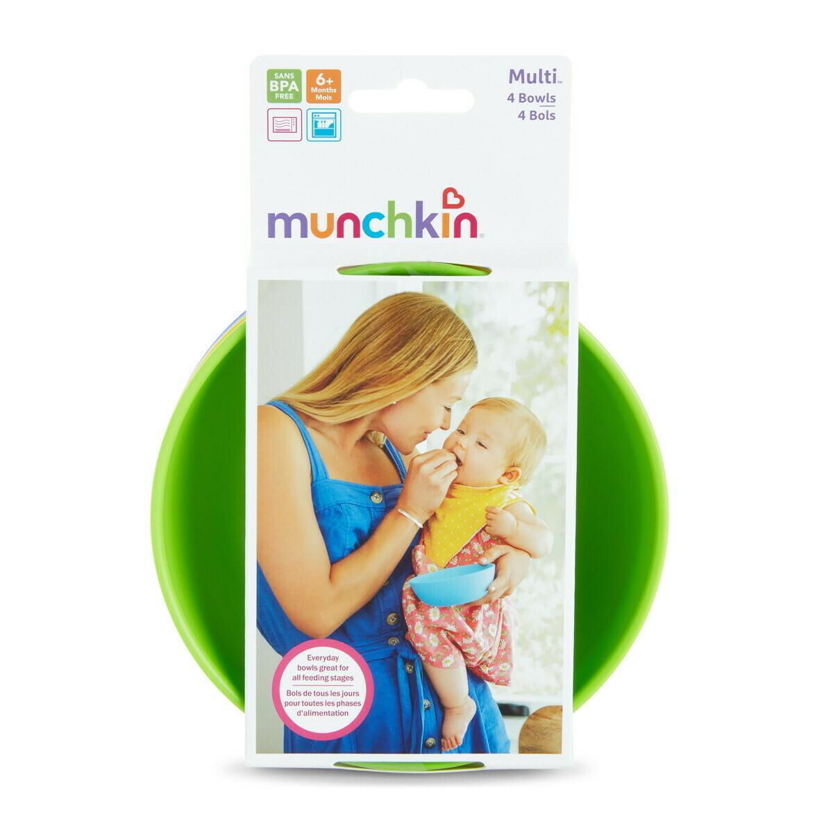 Munchkin-4PK MODERN MULTI BOWLS