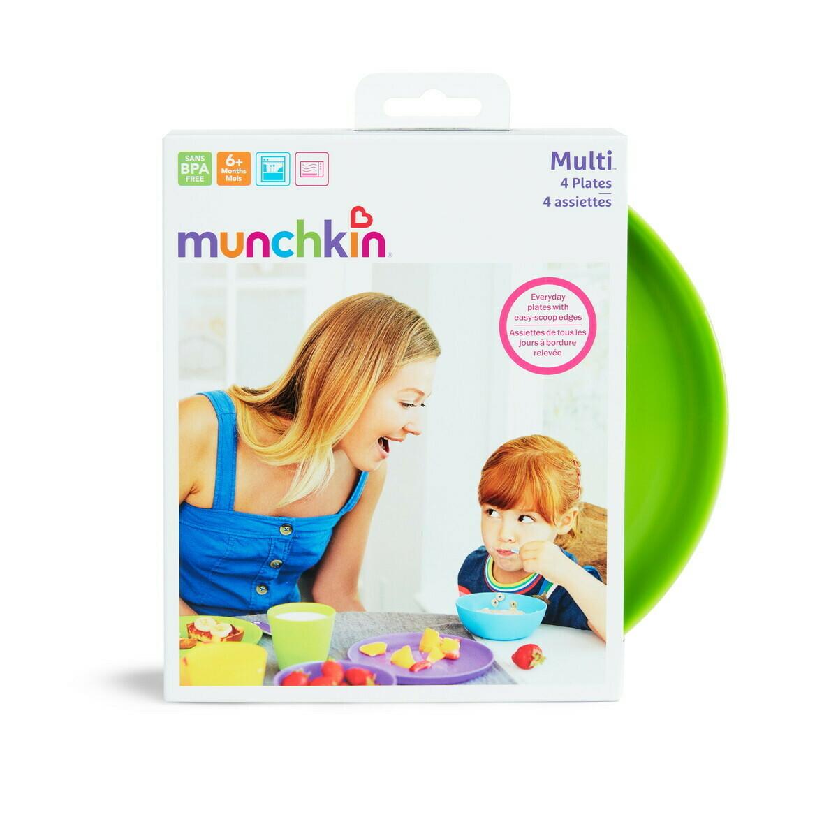 Munchkin-4PK MODERN MULTI PLATES