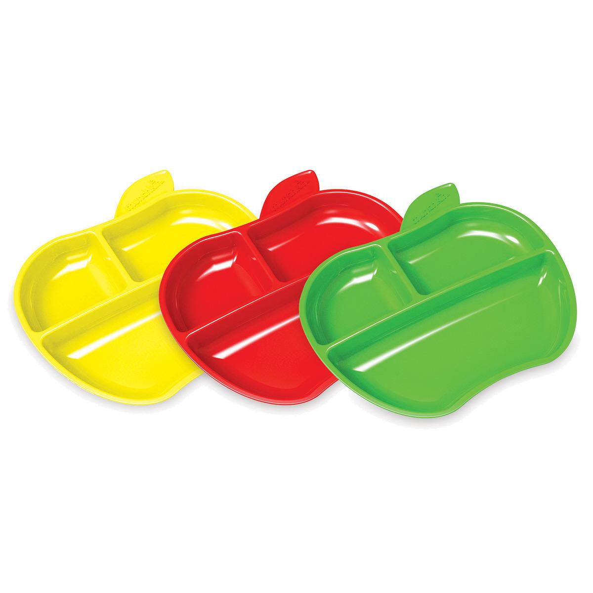 Munchkin-3 LIL' APPLE PLATES