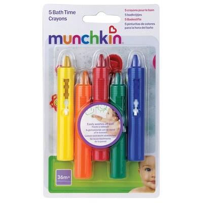 Munchkin- 5 BATH TIME CRAYONS
