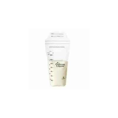 Tommee tippee σακουλάκια αποθήκευσης γάλακτος 350 ml σετ των 36