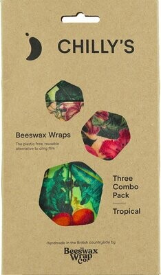 Chilly's Beeswax Wrap 3pack Tropical