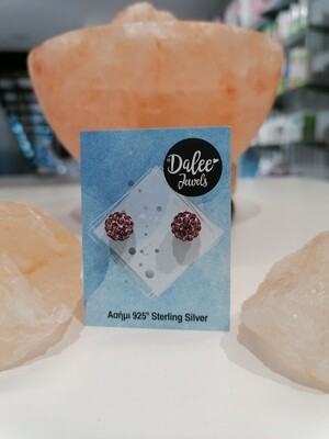 Dalee Jewels Σκουλαρίκια Purple Crystals Balls