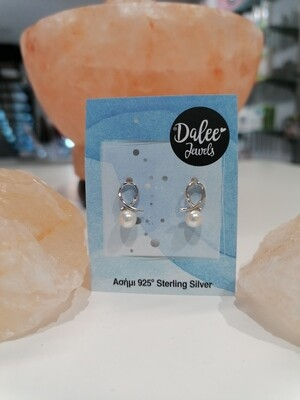 Dalee Jewels Σκουλαρίκια Hanging White Pearl