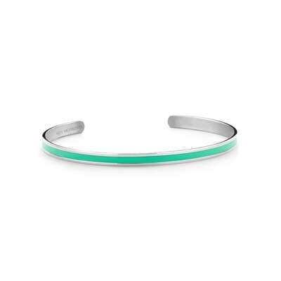 Key Moments Stainless Steel Open Bangle 4MM Mint