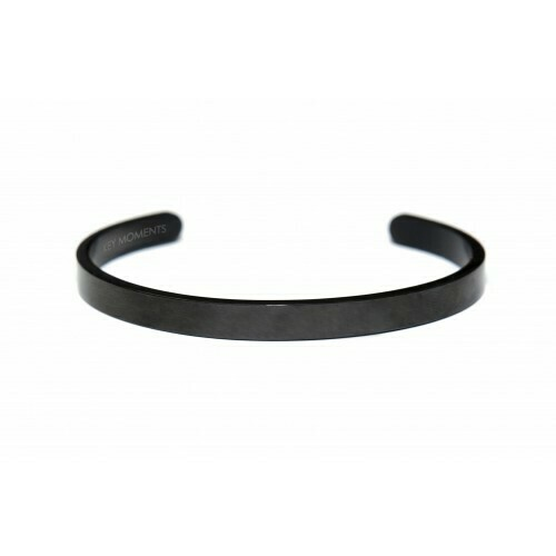 Key Moments Stainless Steel Open Bangle Men 6MM Strength Comes From Within Matt