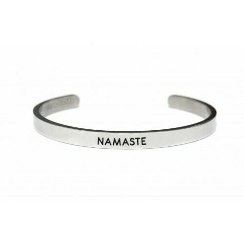 Key Moments Stainless Steel Open Bangle Men 6MM Namaste Matt