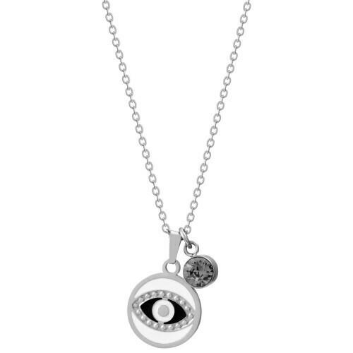Natalie Gersa Steel Necklace Eye Silver