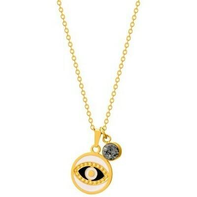 Natalie Gersa Steel Necklace Eye Gold