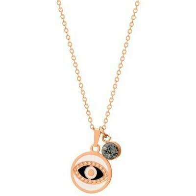 Natalie Gersa Steel Necklace Eye Rosegold