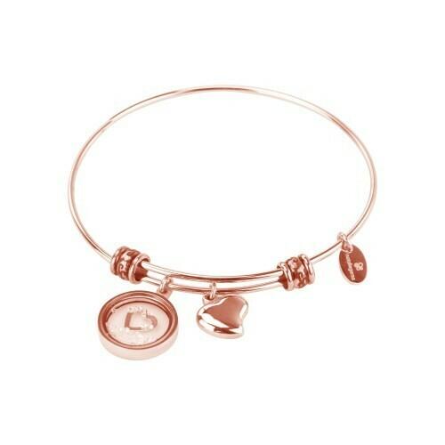 Natalie Gersa Steel Bracelet Pendants Two Hearts