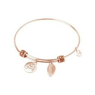 Natalie Gersa Steel Bracelet Pendant Tree & Leaf