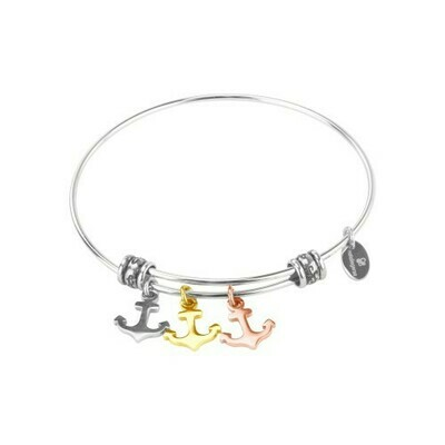 Nataliegersa Steel Bracelet Anchors Three Tone