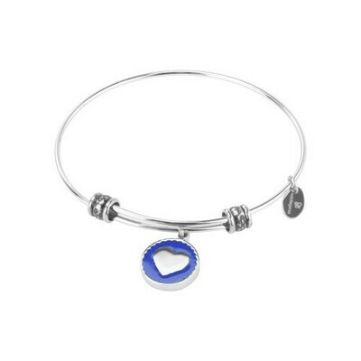 Natali Gersa Steel Bracelet With Heart Enamel Blue
