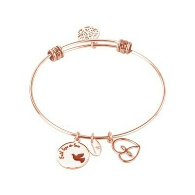 Natalie Gersa Steel Bracelet Faith Hope Love