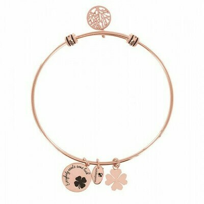Natalie Gersa Steel Bracelet Everybody Needs Some Luck