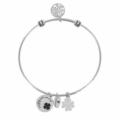 Natalie Gersa Steel Bracelet Everybody Needs Some Luck