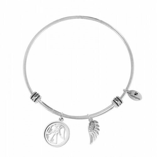 Natalie Gersa Steel Bracelet Pendants Wing Angel
