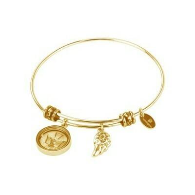 Natalie Gersa Steel Bracelet Pendants Wing Angel