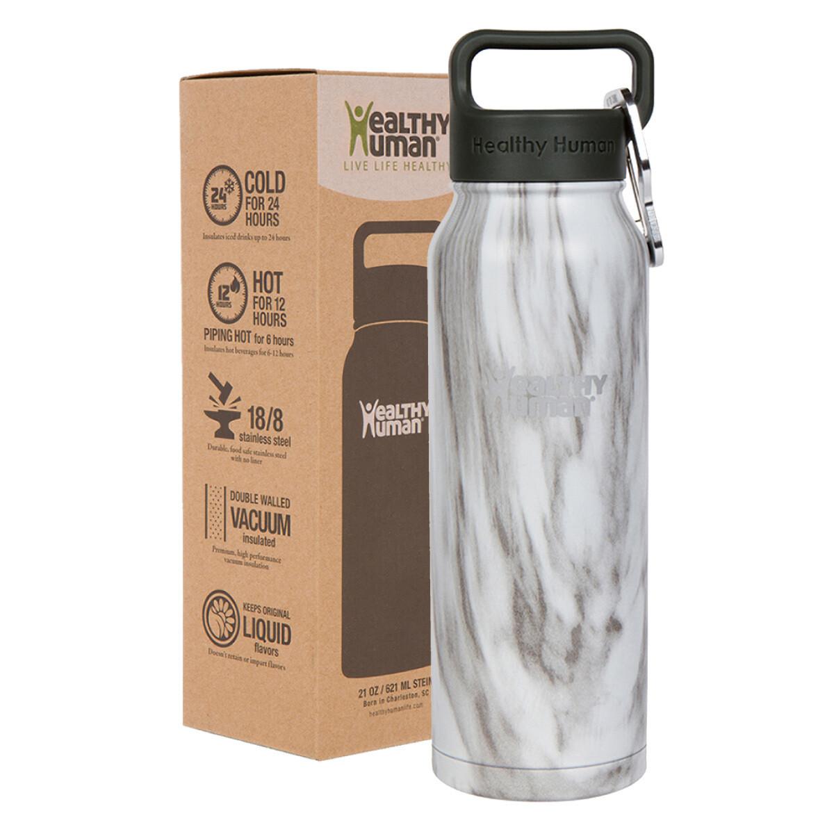 Healthy Human- Stein Bottle Stone White 621ml