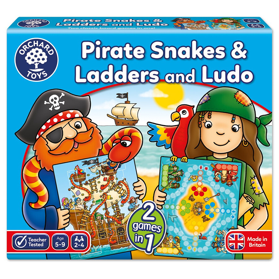 Orchard Toys Pirate Snakes and Ladders & Ludo Board Game Ηλικίες 5- 9 ετών