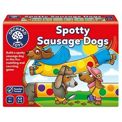 "Orchard Toys ""Σκύλοι-λουκάνικα με βούλες"" (Spotty Sausage Dogs) Ηλικίες 4+ ετών"