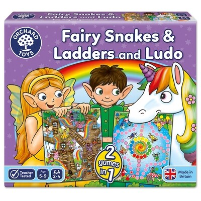 Orchard Toys Fairy Snakes & Ladders and Ludo Board Game