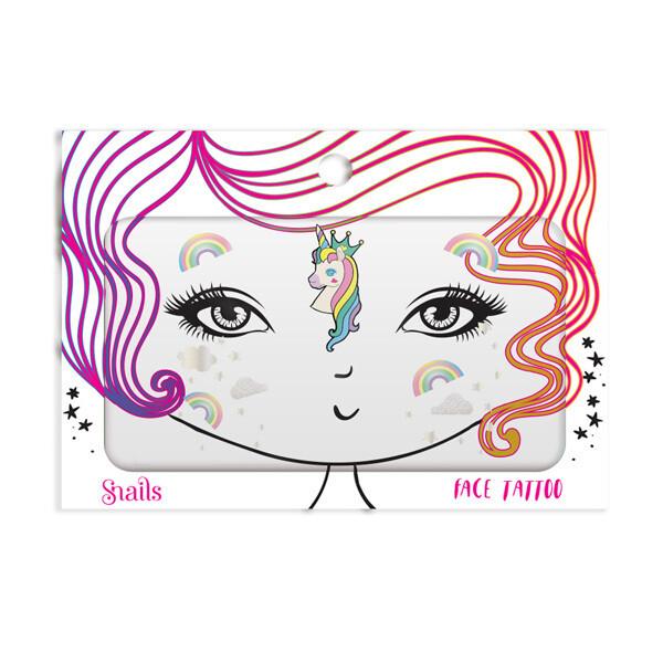 Snails Face Tattoos - Unicorn