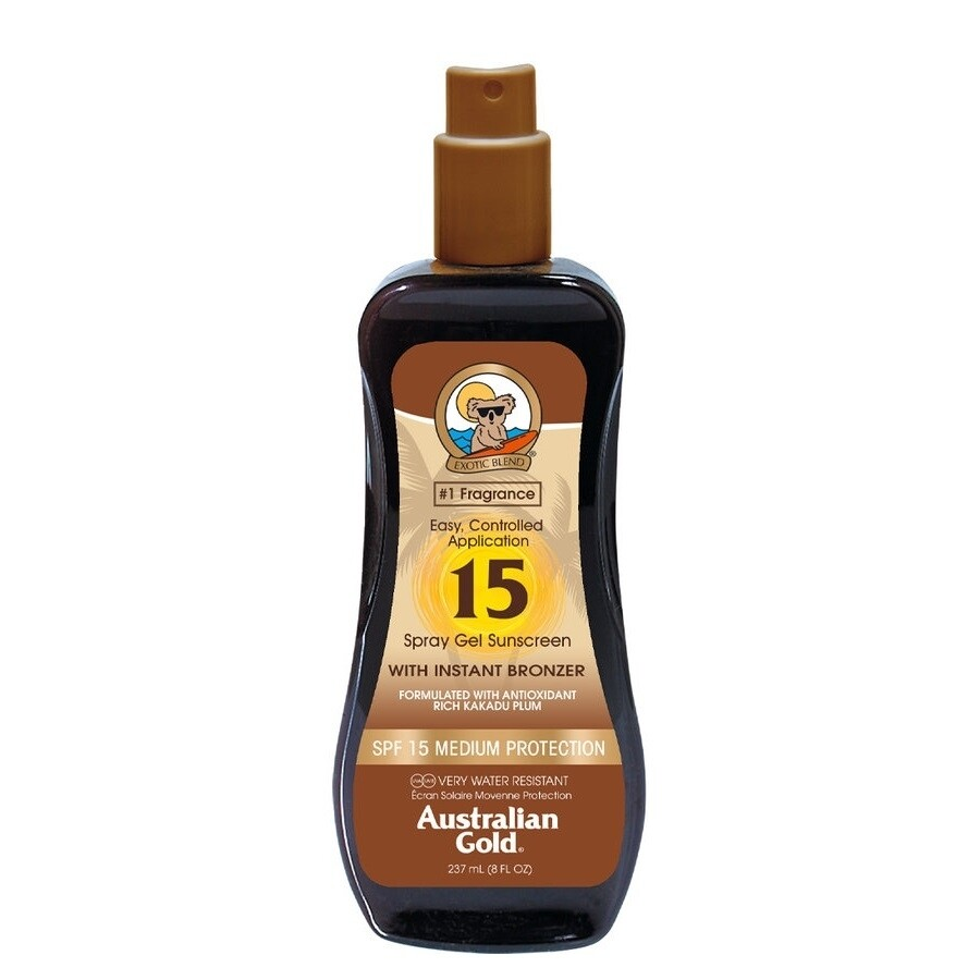 Australian Gold Botanical Spf 15 Spray Gel with Bronzer 237ml - Cocoa Dreams