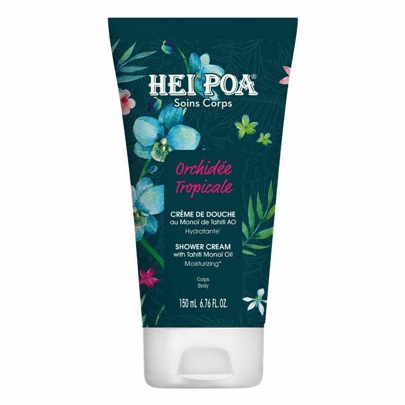 Hei Poa Shower Cream Orchidee Tropicale Ενυδατικό Αφρόλουτρο με Άρωμα Τροπική Ορχιδέα 100ml.