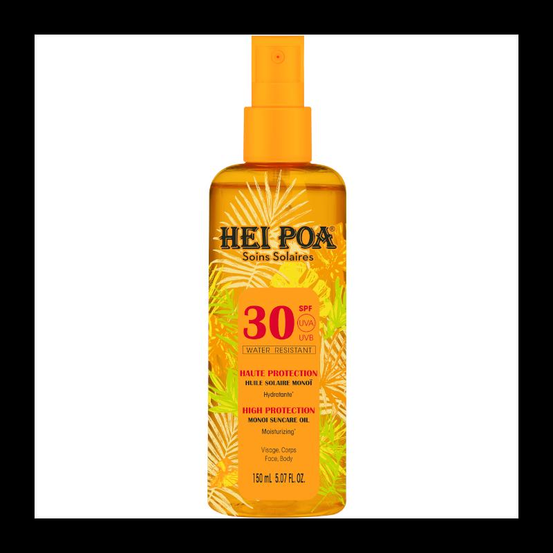 Hei Poa Monoi Suncare Oil Tiare Spray SPF30 Αντηλιακό Λάδι για το Σώμα, 150ml