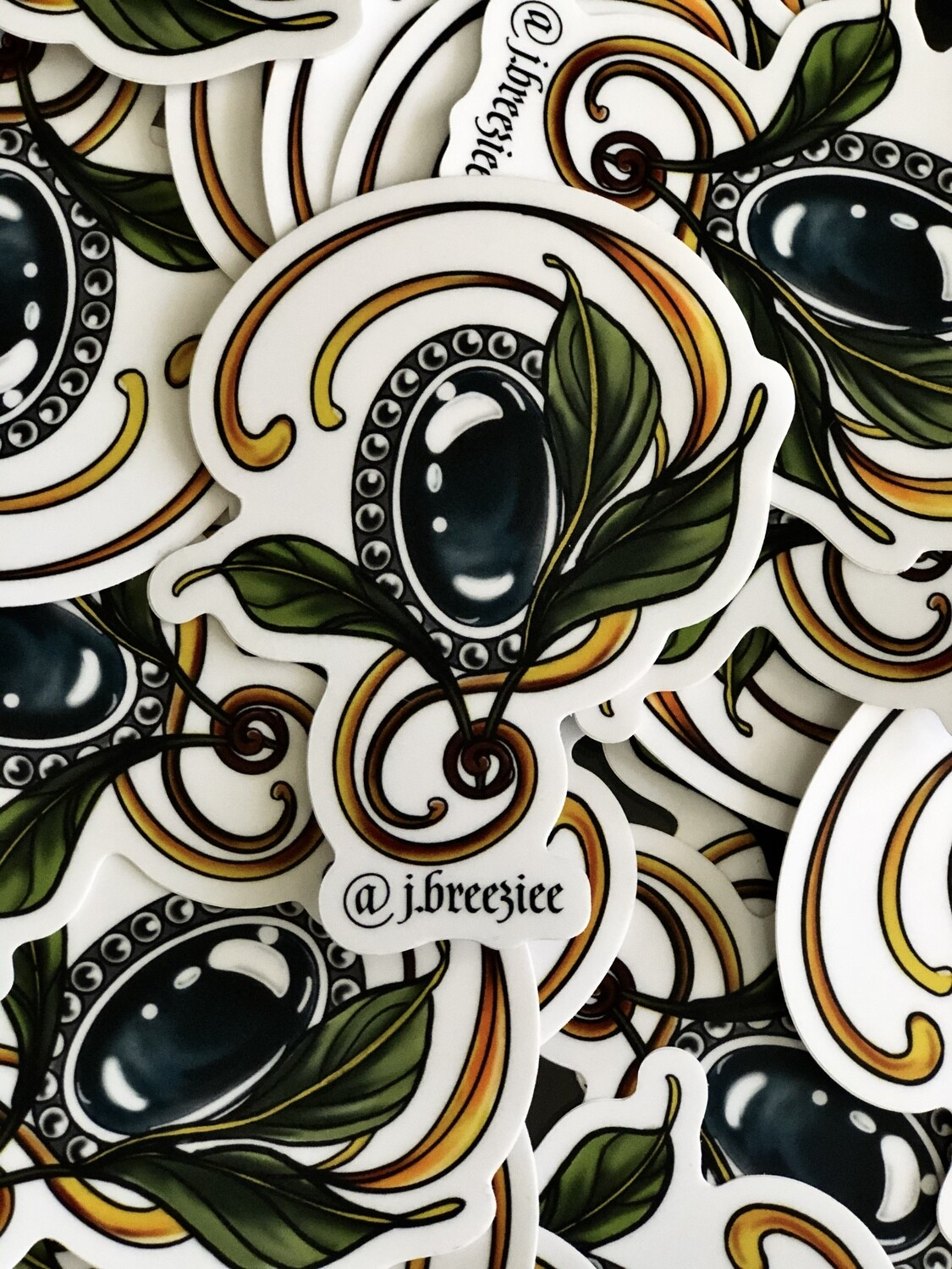 Nouveau Jewel Sticker