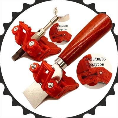 Каретка для заточки шорного ножа, поворотного ножа