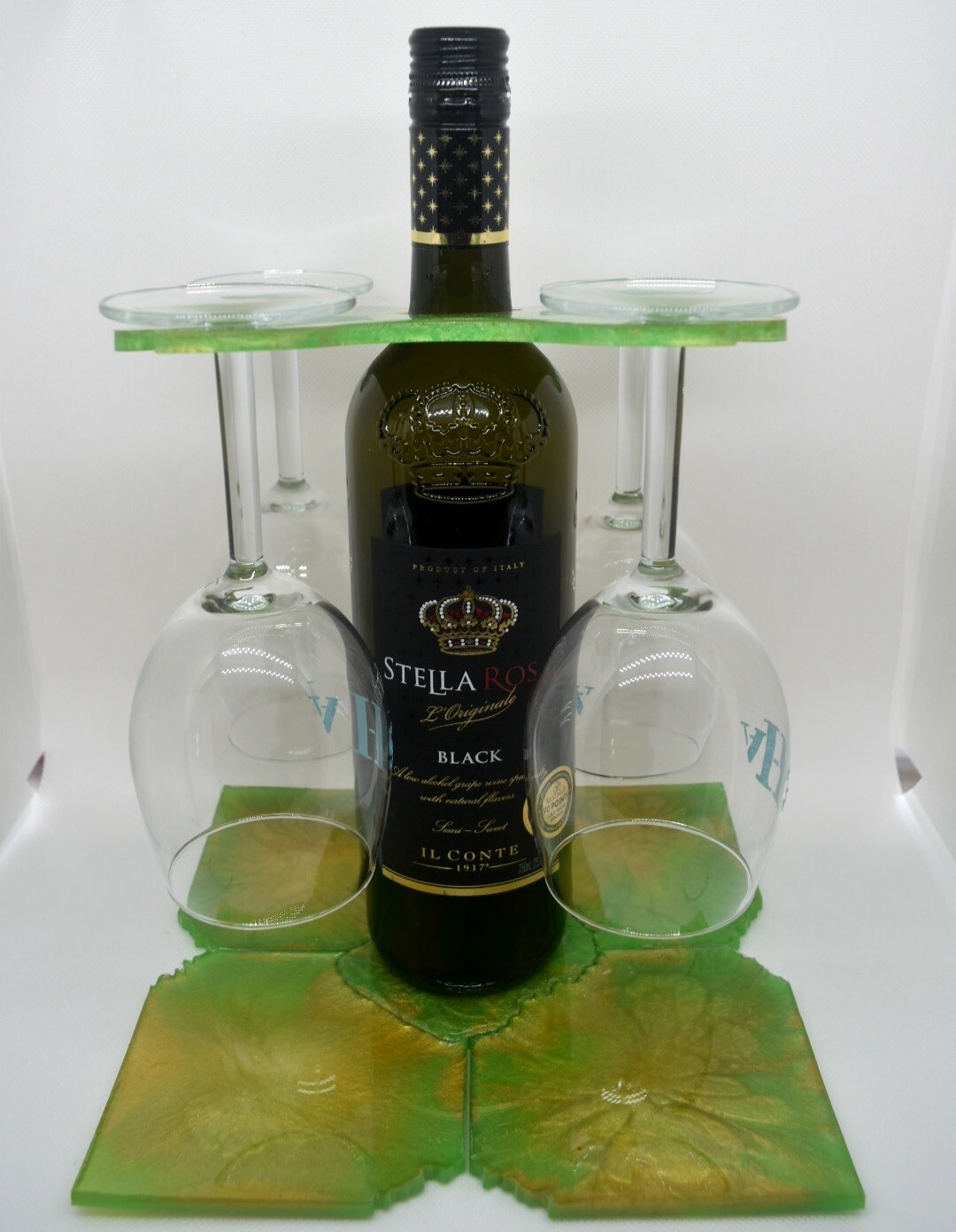 Wine Butler and Tray/Coaster Set