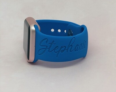 Personalized Silicone WatchBand-Name and Monogram