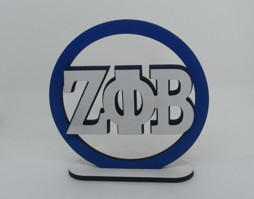 ZPB Circle Wood Sign with stand