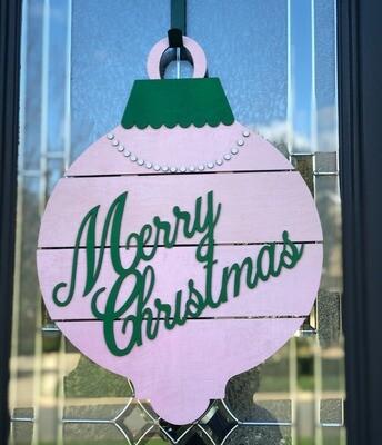 Door Sign-Merry Christmas