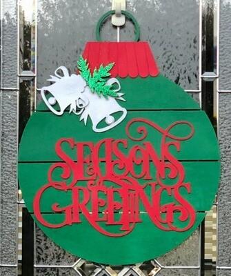 Door Sign-Seasons Greetings
