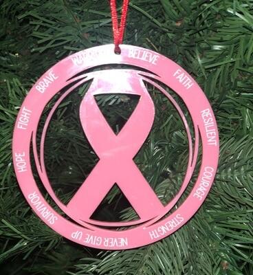 Ornament-Breast Cancer Ribbon