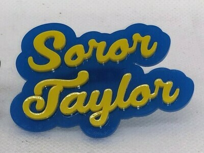 Customizable Soror Lapel Pin
