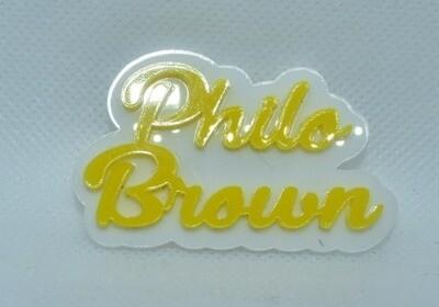 Philo-Customizable Soror Lapel Pin