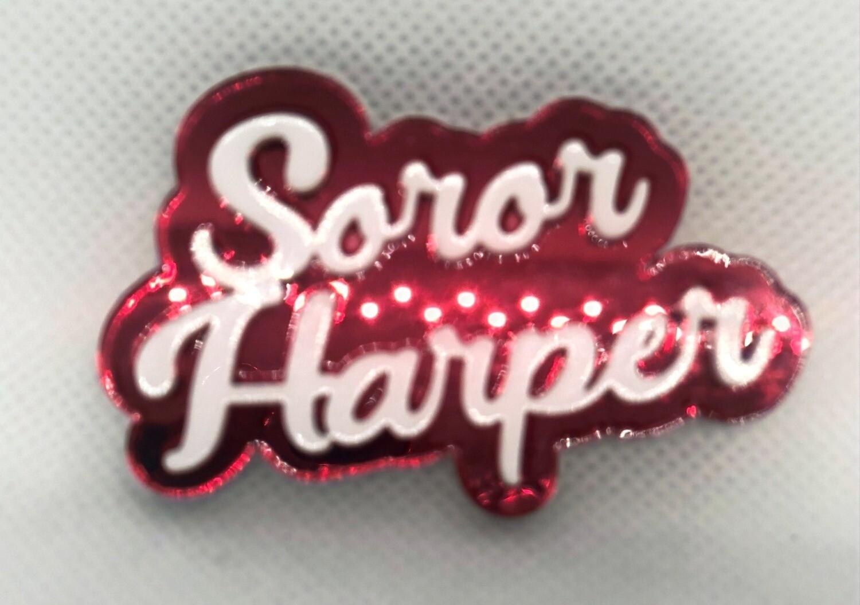 Customizable Soror Lapel Pin