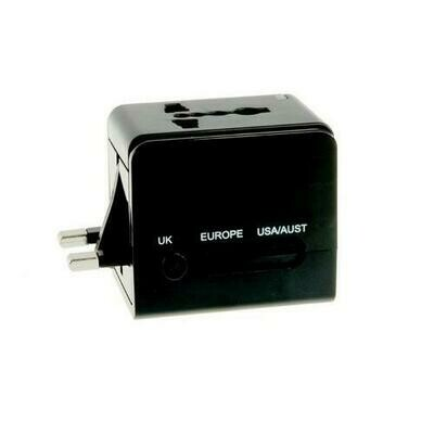 Hot Tips Universal International Travel Plug Adapter, Black