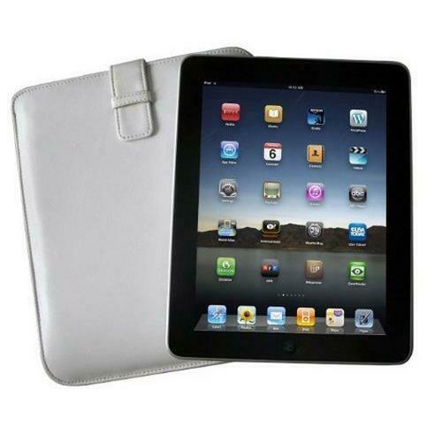 Icon Apple iPad Sheep Skin Leather Sleeve - White