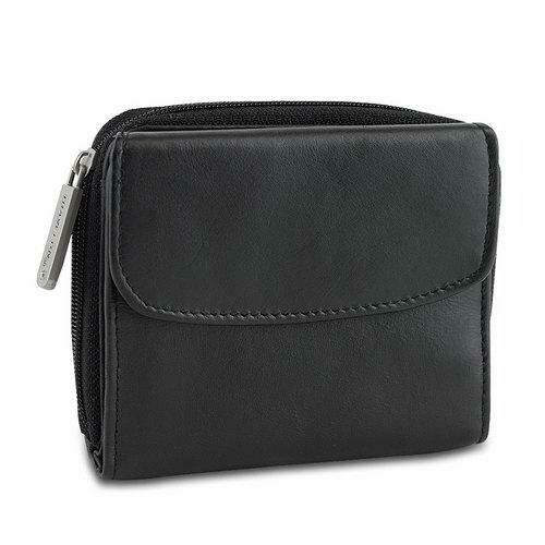 Travelon Safe ID Hack-Proof Leather French Wallet with RFID Blocking
